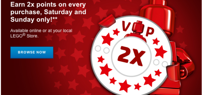 The LEGO Shop Offering Double Rewards Points This Weekend Only