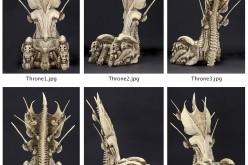 NECA Toys Alien Vs. Predator Bone Throne Preview