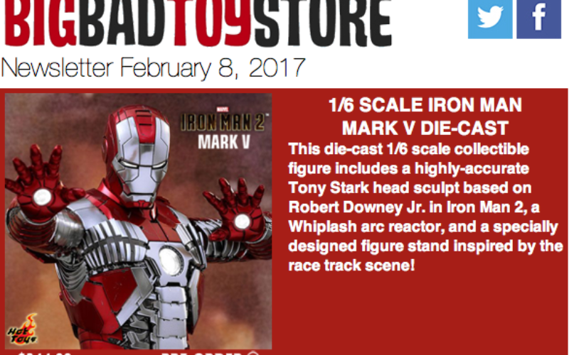 BigBadToyStore: Iron Man, Street Fighter, Batman, Final Fantasy, Friday The 13th, Star Wars, Godzilla & More