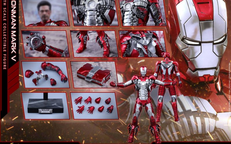Hot Toys Iron Man Mark V Diecast Sixth Scale Figure Pre-Order