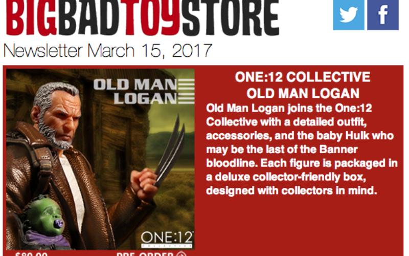 BigBadToyStore: Old Man Logan, Wonder Woman, The Walking Dead, Freddy/Jason Bishoujo, Deadpool & More
