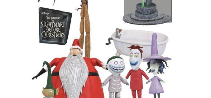 Nightmare Before Christmas Select Series 3 – Santa, Lock, Shock, Barrel, & Pumpkin King Jack