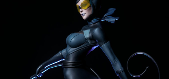 """Sideshow Collectibles Catwoman Statue Designed By Artist Stanley """"Artgerm"""" Lau Pre-Orders"""