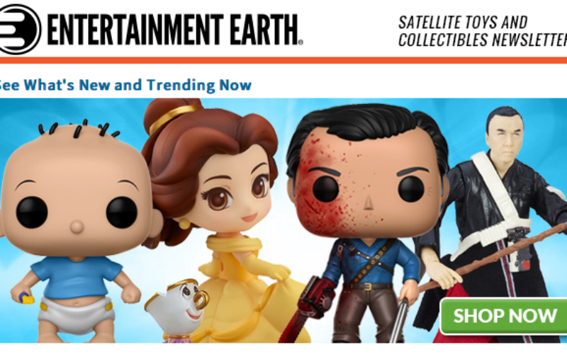Entertainment Earth: Star Wars, TMNT, Marvel, Star Trek, Power Rangers & More