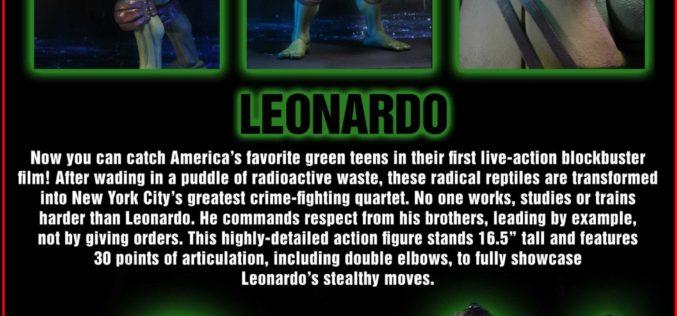 NECA Toys Teenage Mutant Ninja Turtles 1/4″ Leonardo Figure Packaging Preview