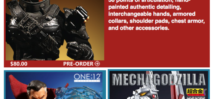 BigBadToyStore: One:12, SDCC, Bandai Jp, Deadpool, Predator, Dioramas, Godzilla, PotC & More
