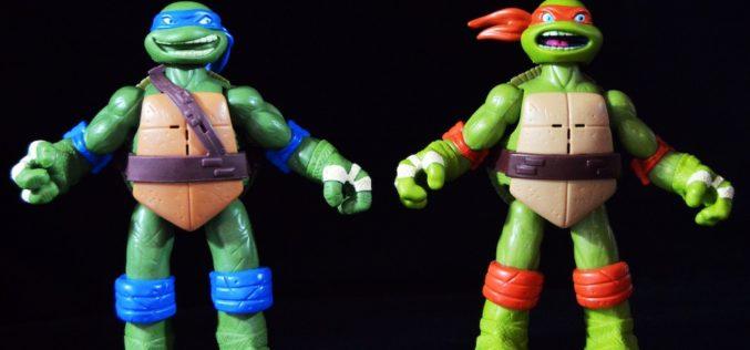 Playmates Toys Teenage Mutant Ninja Turtles Ninja Shouts Leonardo & Michelangelo Figures Review