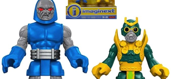 Fisher-Price Imaginext DC Super Friends Darkseid With Minion, Steel With Metallo, & Aquaman With Seahorse