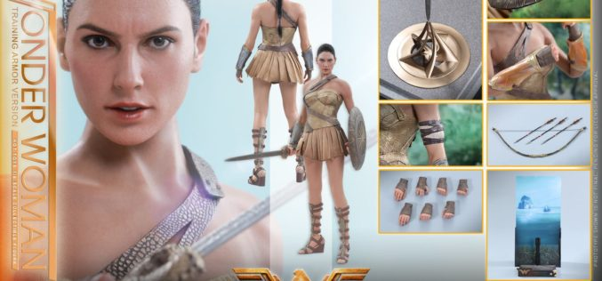 Hot Toys Wonder Woman In Training Armor Version Sixth Scale Figure Pre-Orders