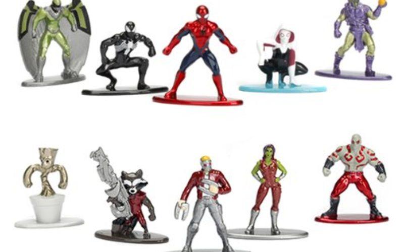 Jada Toys Marvel Nano Metalfigs Die-Cast Mini-Figures 5-Pack & 10-Pack Sets