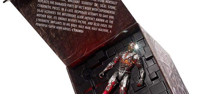 Mattel SDCC 2017 Exclusive Justice League Cyborg Origins Figure & Hot Wheels Batmobile