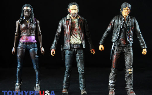 McFarlane Toys The Walking Dead Blood Splattered Rick, Michonne & Daryl 3-Pack Review