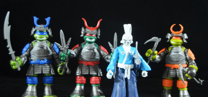 Playmates Toys Teenage Mutant Ninja Turtles Usagi Yojimbo & Samurai Turtles Figures Review