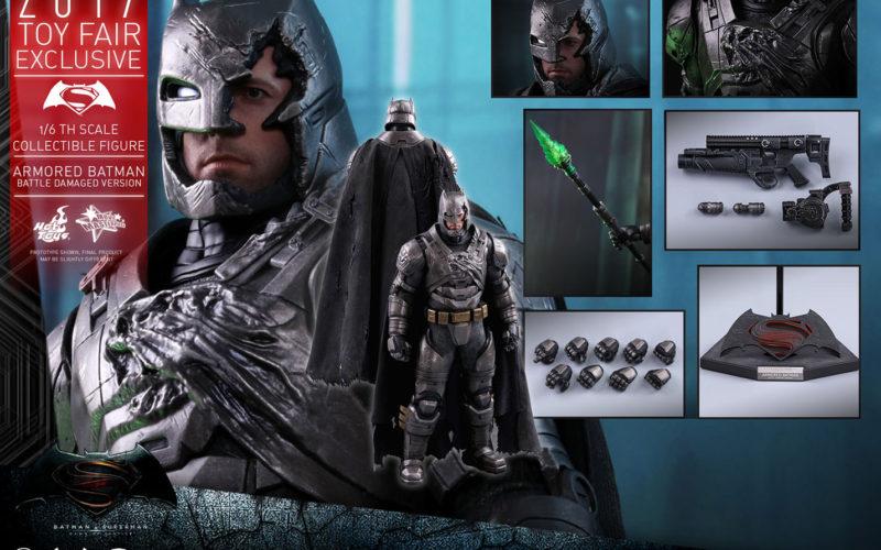 Hot Toys Armored Batman Battle Damaged Version Sixth Scale Figure Pre-Orders