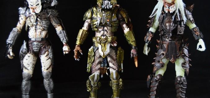 NECA Toys Predator Series 16 – Ghost, Stalker & Spiked Tail Predator Figure Review