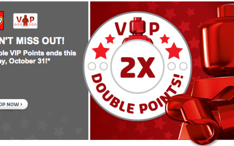 LEGO VIP Double Rewards Sale Ends October 31st & Free Holiday Set ...