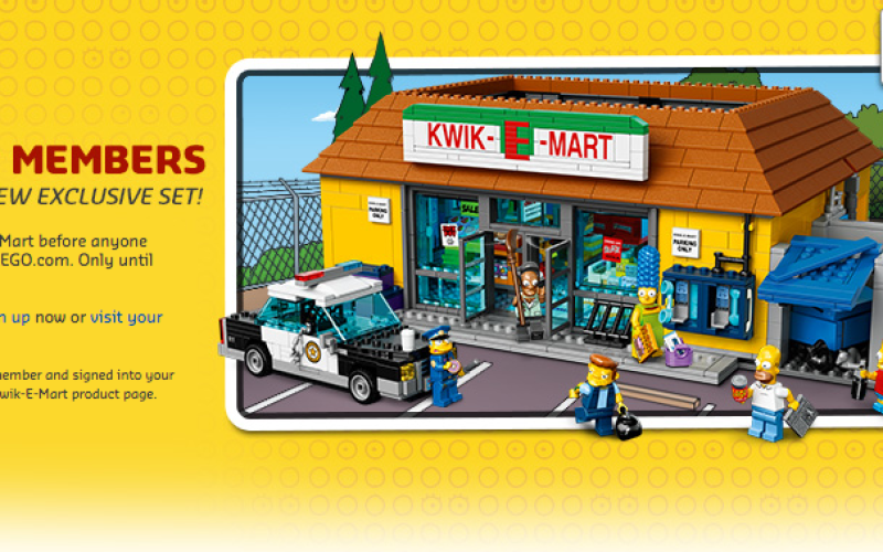 LEGO Shop Offers VIP Early Access Sale For The Simpsons 71016 Kwik-E ...